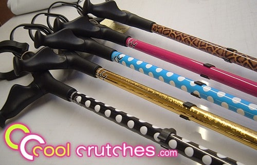 Cool Crutches in polka do designs