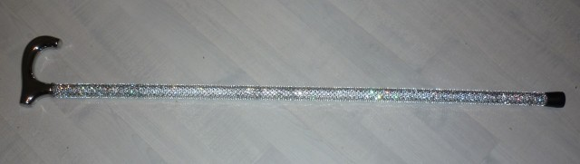 Walking stick with Swarovski crystals embedded