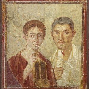 Wall painting of the baker Terentius Neo and his wife.