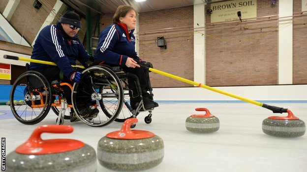 GB Wheelchair Curling skip, Aileen Neilson