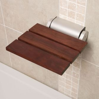 Milano Sapele Folding Shower Seat