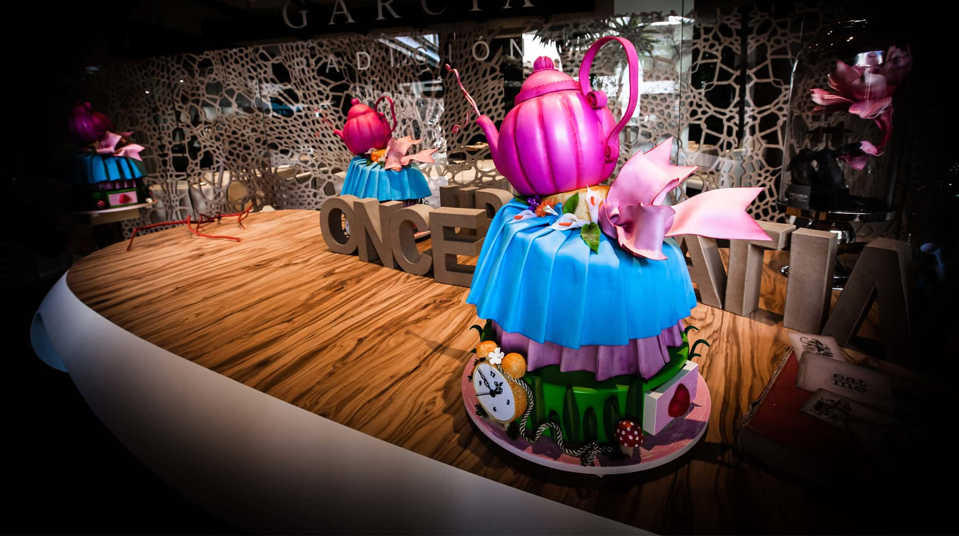 Teapots Dispensed After Dinner Treats At The Alice In Wonderland Inspired Restaurant of Dani Garcia