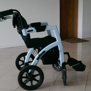 The Rollz Motion is a rollator which converts into a wheelchair