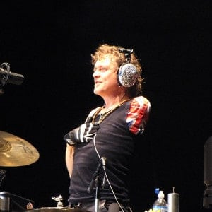Rick Allen... Playing the drums with one hand requires some skill!
