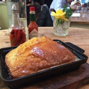 The Fresh Baked Cornbread - Soooo Good