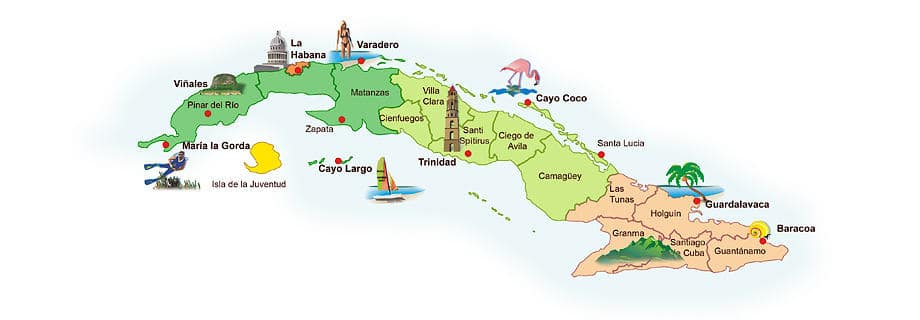 Cuba Map Tourist – Tourist Attractions Map In Cuba